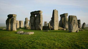 Le site mégalithique préhistorique de Stonehenge, le 11 décembre 2013, près d'Amesbury, au Royaume-Uni.