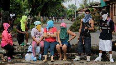 Des opposants au président nicaraguayen, le 5 juin 2018 à Masaya