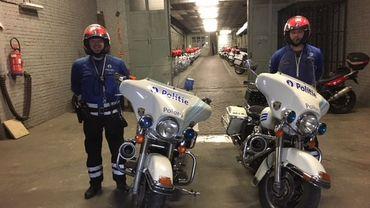 La police de Bruxelles/Ixelles, est encore aujourd'hui la seule à posséder des Harley Davidson.
