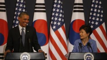 """Pyongyang compare la présidente sud-coréenne à une """"prostituée"""" et Obama à son """"maquereau"""""""