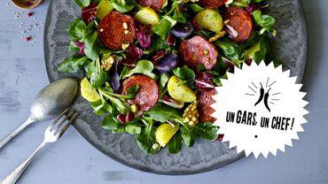 Recette : la salade de cocos au chorizo d'Un Gars, un Chef !