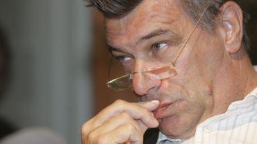Johan Vermeersch, l'ancien patron du FC Brussels, à Molenbeek.