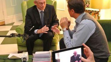 Herman Van Rompuy interviewé à Oslo par Olivier Hanrion
