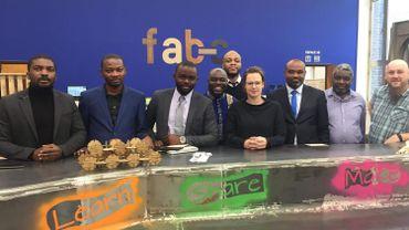 Une délégation de haut niveau au Fab Lab de Charleroi