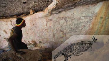 Australie: la plus ancienne œuvre d'art pariétal est un kangourou de 17.000 ans