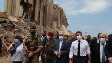 Le président français en visite à Beyrouth.