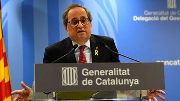 Le président catalan Quim Torra, le 12 février 2019 à Barcelone