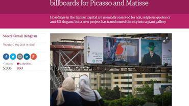 Capture d'écran du site du Guardian