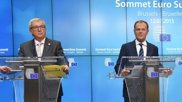"Jean-Claude Junker et Donald Tusk annonce l'accord ""unanime"" intervenu ce lundi à l'aube"