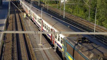 Une voiture d'un train avait déraillé le 10 septembre dernier