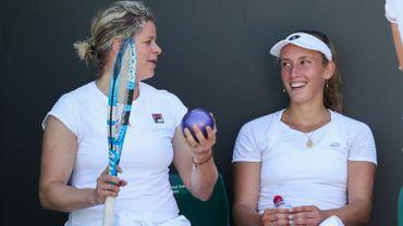 """Mertens impressionnée par Clijsters : """"Elle frappe la balle de manière si propre"""""""