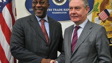 Ron Kirk et Karel De Gucht, les deux protagonistes d'un futur de traité de libre-échange USA-Europe