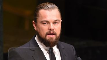 Leonardo DiCaprio à la tribune des Nations unies le 23 septembre 2014