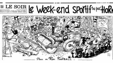 """""""Le week-end sportif"""", la rubrique de Horn dans le journal Le Soir"""