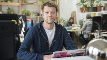 """Michael Bohmeyer, fondateur de la startup """"Mein Grundeinkommen"""" (mon revenu de base) à Berlin, le 13 avril 2017"""