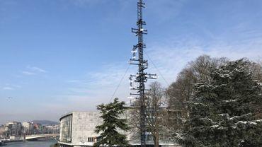 La tour cybernétique de Nicolas Schöffer dans le parc de la Boverie à Liège