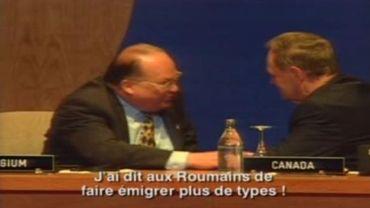 Jean-Luc Dehaene et Jean Chrétien oublient leur micro en 1997