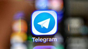 L'icône de l'application Telegram sur un téléphone portable, le 17 avril 2018 à Moscou