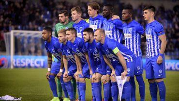 Les onze genkois alignés contre Gand au match retour d'Europa League