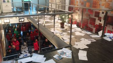 Grève nationale: des manifestants font des dégâts chez Agoria à Gosselies