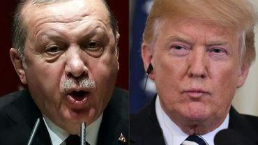 Le président turc Recep Tayyip Erdogan et le président américain Donald Trump