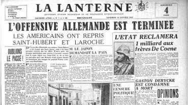 La presse annonce la victoire alliée le 12 janvier 1945