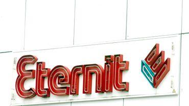 Le logo de la société Eternit, productrice de ciment-amiante