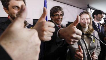 Carles Puigdemont au soir des élections à Bruxelles.