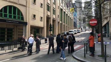 La Banque nationale évacuée: le boulevard de Berlaimont coupé à la circulation