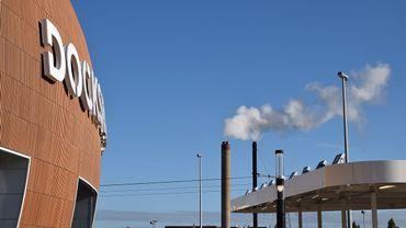 Les pompiers bruxellois étaient déjà  intervenus dimanche au centre commercial Docks pour un problème au niveau du toit.