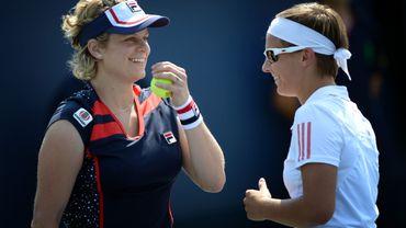 Kim Clijsters et Kirsten Flipkens