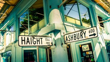 Haight Ashbury street sign in San Francisco, California, USA