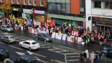 Des militants anti-avortement à Belfast en 2012