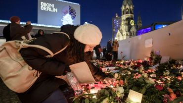 Mémorial en hommage aux victimes de l'attentat au camion-bélier, le 21 décembre 2016 à Berlin