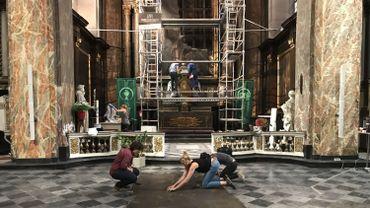 Des travaux de sécurisation sur le tableau de Sainte-Catherine à Liège