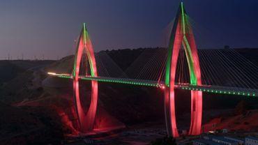 Le pont Mohammed VI à Rabat.