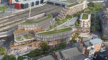 Le projet de Besix pour remplacer le Square Léopold : disproportionné, selon le PS et le PTB