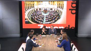 Capture d'écran du débat De Zevende Dag (VRT)