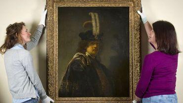 Un autoportrait du peintre néerlandais Rembrandt authentifié