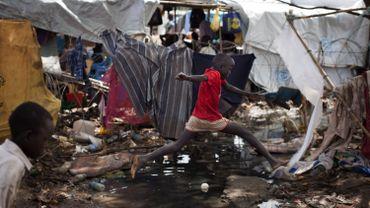 Camp de réfugiés sud-soudanais.