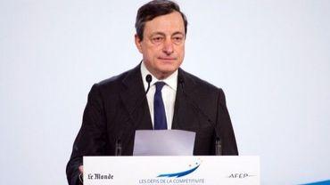 Le président de la Banque centrale européenne, l'Italien Mario Draghi, le 13 mars 2012 à Paris