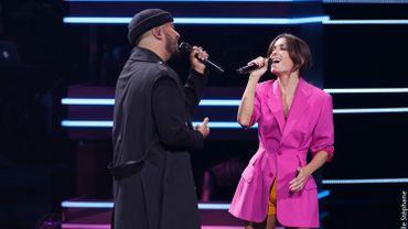Jenifer et Slimane chantent 'Les choses simples' sur le plateau de The Voice