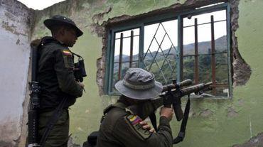 La police colombienne à El Mango, en Colombie, le 27 juin 2015