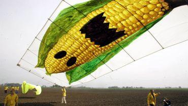 Une manifestation contre les maïs OGM de Monsanto en Allemagne en 2006
