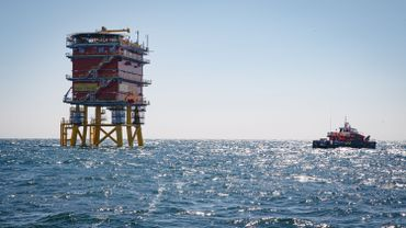 Plateforme offshore Elia en Mer du Nord.