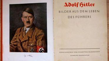 Portrait d'Adolf Hitler extrait d'un livre de propagande