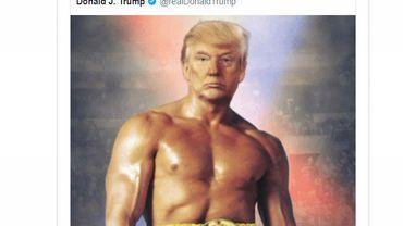 USA: Trump se présente en Rocky, torse nu, sur Twitter