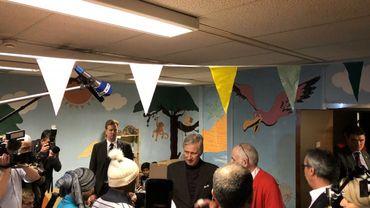 Etterbeek: le Roi tente de remonter le moral des sans-abris