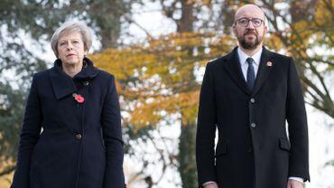 Charles Michel et Theresa May se rendaient au Shape, le quartier général militaire de l'Otan, situé à Casteau
