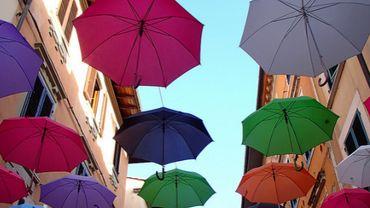 Illustration -  triste fin pour l'installation de parapluies à Bastogne